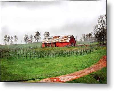 Metal Print featuring the photograph Rustic Wine by Robert Smith