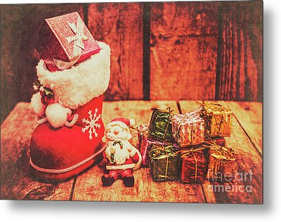 Rustic Xmas Decorations Metal Print by Jorgo Photography - Wall Art Gallery