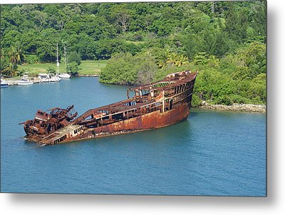 Rusting Metal Print by Lois Lepisto