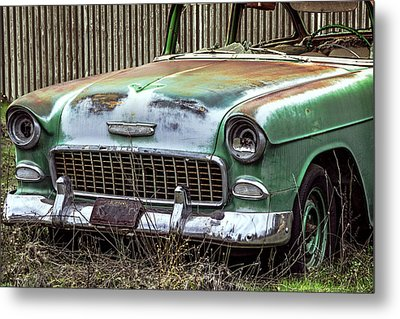 Rusty 55 Chevy Metal Print by William Havle