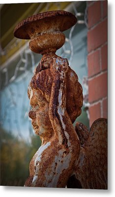 Metal Print featuring the photograph Rusty Angel by Linda Unger