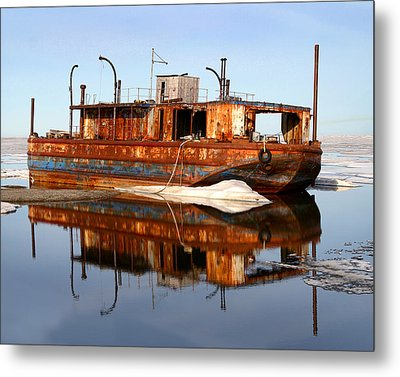 Rusty Barge Metal Print by Anthony Jones