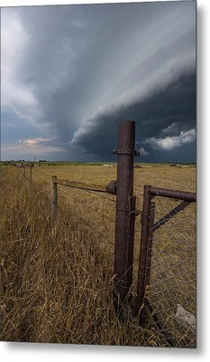 Metal Print featuring the photograph Rusty Cage  by Aaron J Groen