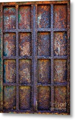 Rusty Iron Window Metal Print