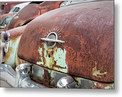 Rusty Line-up Metal Print
