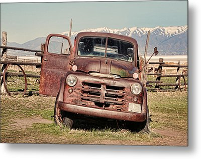 Metal Print featuring the photograph Rusty Old Dodge by Ely Arsha