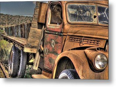 Rusty Old Truck Metal Print by Peter Schumacher
