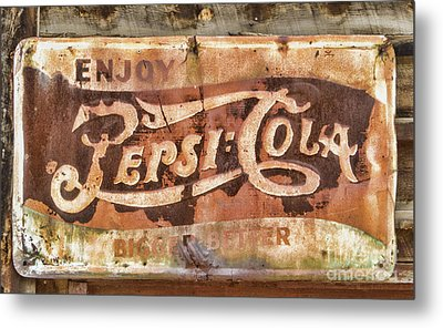 Rusty Pepsi Cola Metal Print