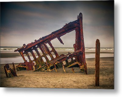 Rusty Shipwreck Metal Print