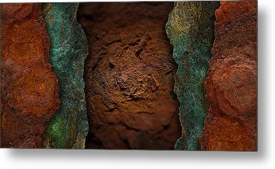 Rust Landscape 5 Metal Print by WB Johnston