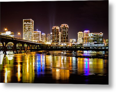 Rva Holiday Skyline 3 Metal Print