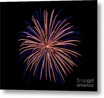 Rvr Fireworks 48 Metal Print by Mark Dodd