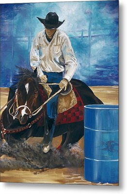 Metal Print featuring the painting Ryan Lovendahl by Patty Sjolin
