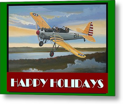 Ryan Pt-22 Happy Holidays Metal Print by Stuart Swartz