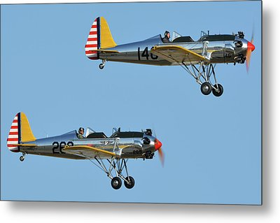 Ryan Pt-22 N48777 146 And Pt-22 N48742 269 Chino California April 29 2016 Metal Print by Brian Lockett
