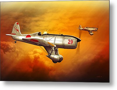 Ryan St-a Captured Imperial Japanese Trainer Metal Print