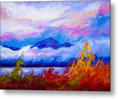 Rythmn Of The Arctic Metal Print by Marion Rose