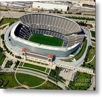 S-004 Soldier Field Close Up Chicago Illinois Metal Print by Bill Lang