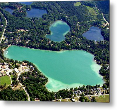 S-006 Spencer Lake Waupaca Wisconsin Metal Print