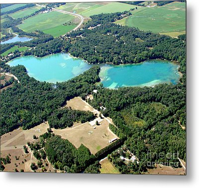 S-046 Stratton Lake 2 Waupaca County Wisconsin Metal Print by Bill Lang