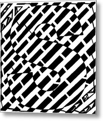 S Maze Metal Print by Yonatan Frimer Maze Artist