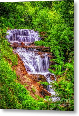 Metal Print featuring the photograph Sable Falls by Nick Zelinsky