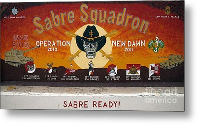Sabre Squadron - Ond Metal Print by Unknown