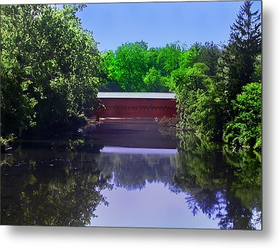 Sachs Covered Bridge In Gettysburg  Metal Print by Bill Cannon