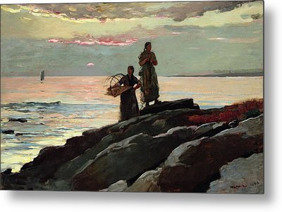 Saco Bay Metal Print by Winslow Homer