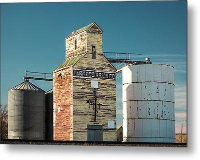 Saco Grain Elevator Metal Print by Todd Klassy