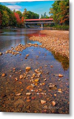 Saco River Bridge 8942 Metal Print