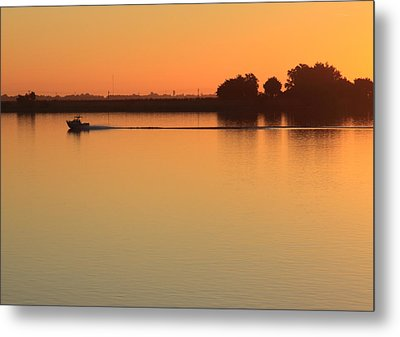 Sacramento River Sunrise Metal Print by Troy Montemayor
