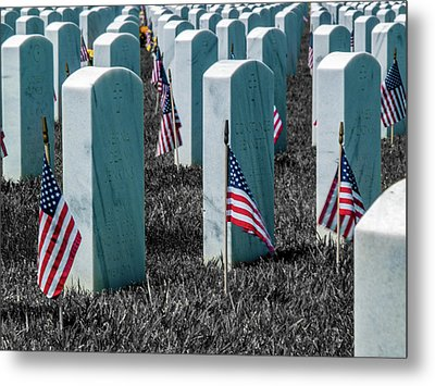 Metal Print featuring the photograph Sacramento Valley Veterans Cemetary by Bill Gallagher