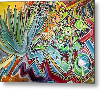 Sacred Agave Metal Print by Steven Holder