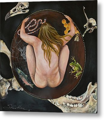 Metal Print featuring the painting Sacred Circle 3 by Sheri Howe