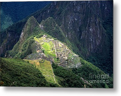 Sacred City Of Machu Picchu Metal Print by James Brunker