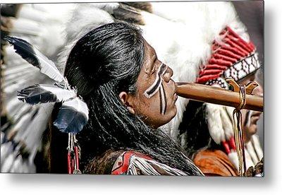 Sacred Flute Metal Print