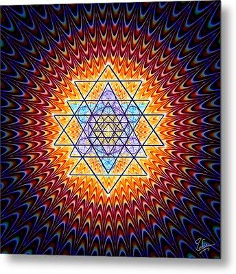 Sacred Geometry 141 Metal Print by Endre Balogh
