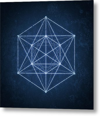 Sacred Geometry  Minimal Hipster Symbol Art Metal Print