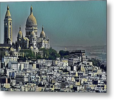 Sacred Heart Basilica Metal Print by Russ Harris