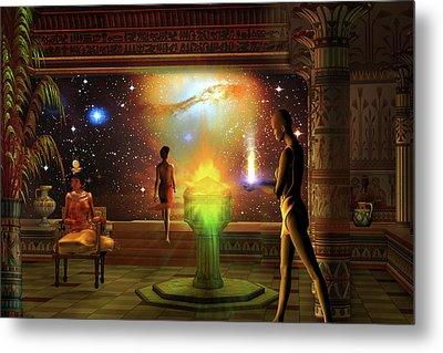 Metal Print featuring the digital art Sacred Journey To Another World by Shadowlea Is