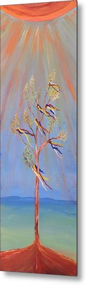 Sacred Sun Dance Tree Metal Print