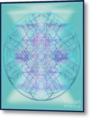Sacred Symbols Out Of The Void A2b Metal Print by Christopher Pringer