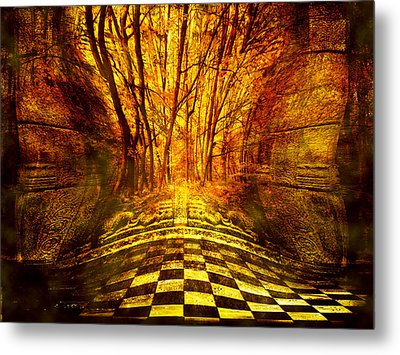 Sacred Temple Of The Trees Metal Print by Jenny Rainbow