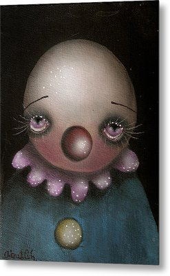Sad Clown Metal Print by  Abril Andrade Griffith