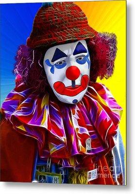 Sad Clown Metal Print by Methune Hively