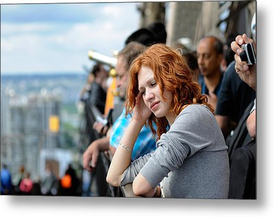 Sad Girl In The Crowd Metal Print by Evgeny Ivanov