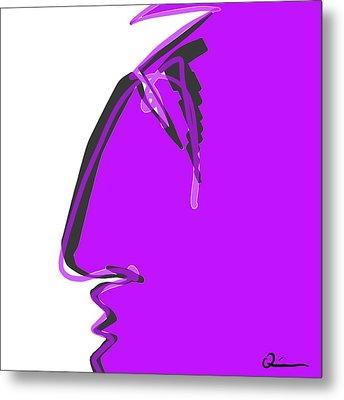 Sad Grape Metal Print