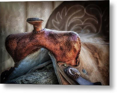 Saddle Up Still Life II Metal Print