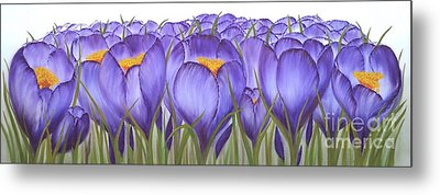 Saffron. Metal Print by Angelina Roeders